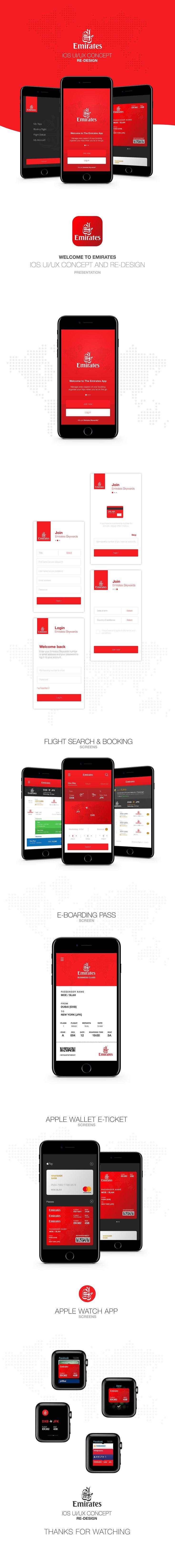 Emirates iOS app UI/UX Concept Design http://moes.io/emirates