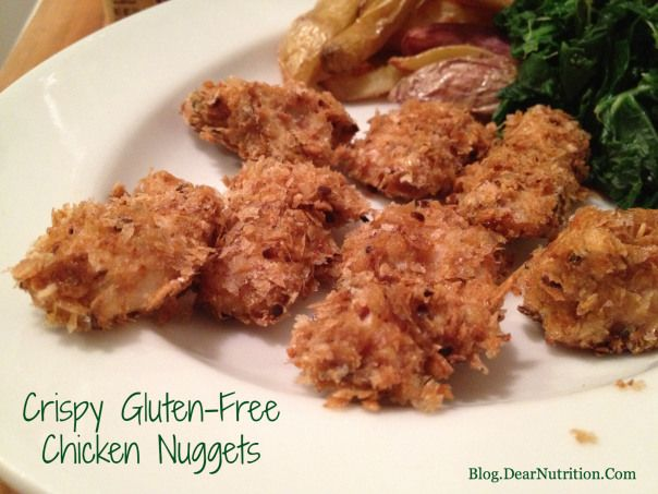 Look at these tasty GF nuggets that are suitable on low FODMAP diet too.