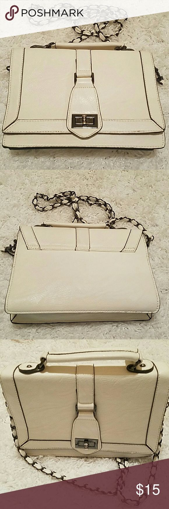 "Melie Bianco Crossbody Bag White Cross-body! 10x7  drop 25"". Very good condition. Melie Bianco Bags"