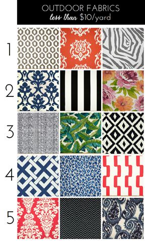 Outdoor Fabrics for Under $10/Yard