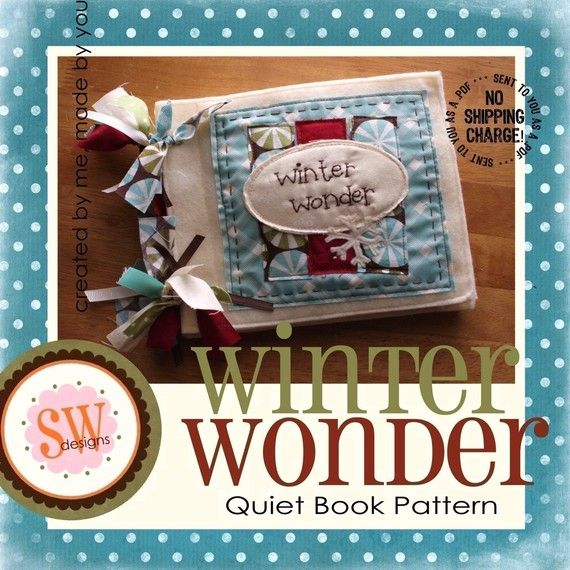 PATTERN for Winter Wonder quiet/activity book  von shelleywallace