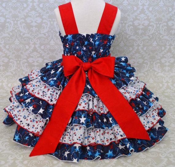 Las chicas del 4 de julio vestido vestido por GrammiesNook en Etsy