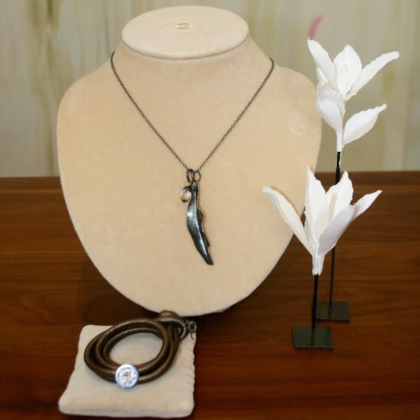 Ole Lynggaard Contemporary Silver Jewellery Capsule - Metallic Leather Bracelet & Tree of Life Charm - Buy on 3mth subscription