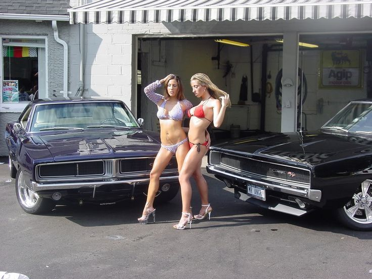 Naked girls on dodge chargers, hotrod pussy