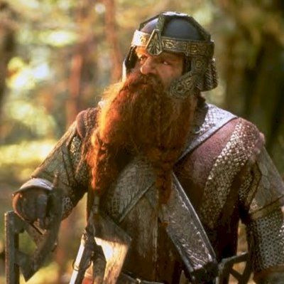Gimli the dwarf from Lord of the Rings