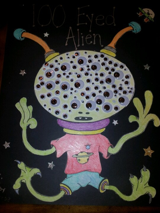 100th day of school project, 100 Eyed Alien