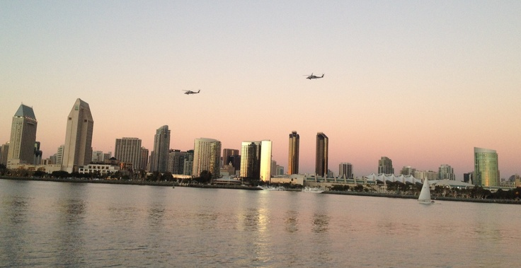 Black Hawks Helicopters over Coronado Bay.
