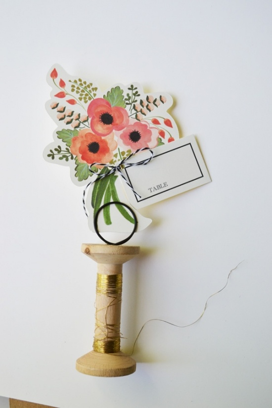 DIY place cards by Loft Life Press