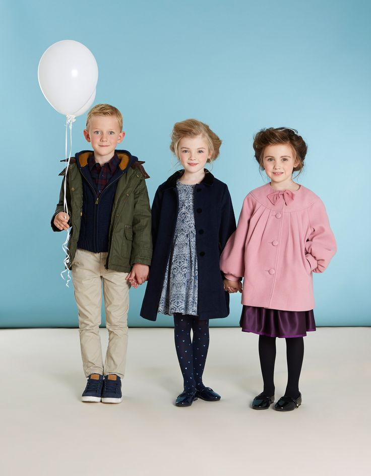 Refined winter pieces for children by Paul Costelloe Living Occasion, exclusively for Dunnes Stores