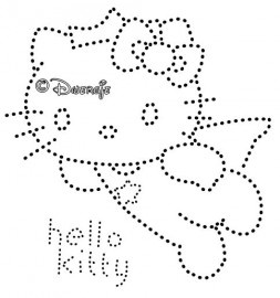 Engel Hello Kitty | Hello Kitty | glittermotifs hotfix patroon