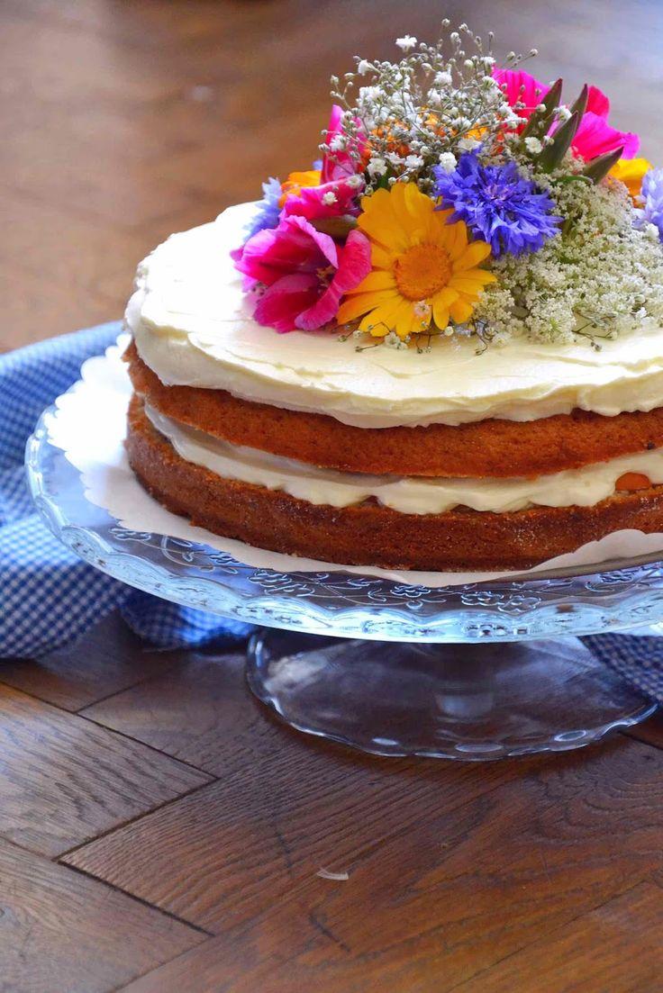 Letní květinový narozeninový dort -- Summer Flower Birthday Cake