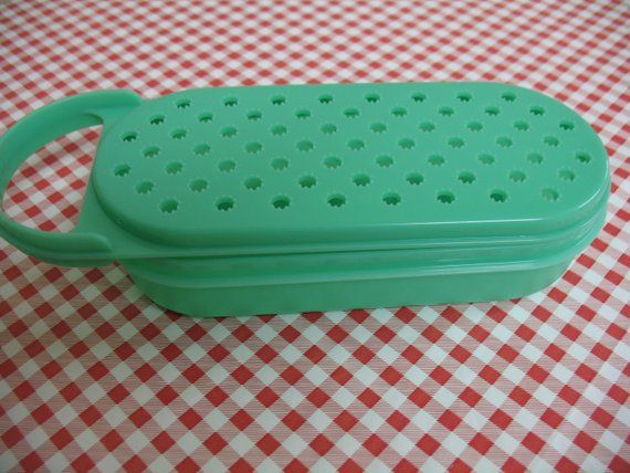 Tupperware Vintage 2 Pc Green Grater Cooking Cheese Grater Utensils Food Preparation 2 Piece Vintage Kitchenware Vintage Tupperware Tupperware
