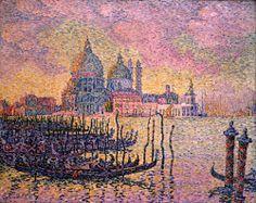 Signac.  Gran Canal, Venecia, 1905  Paul Signac (1863–1935)  óleo sobre lienzo . (73.5 x 92.1 cm)   el museo de arte de Toledo