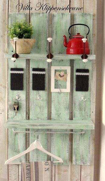 Long island shabby garderobe carmen chic mint and for Garderobe vintage