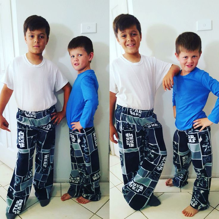 Pyjama pants. The very popular Star Wars themed material has made a huge hit with the kids.