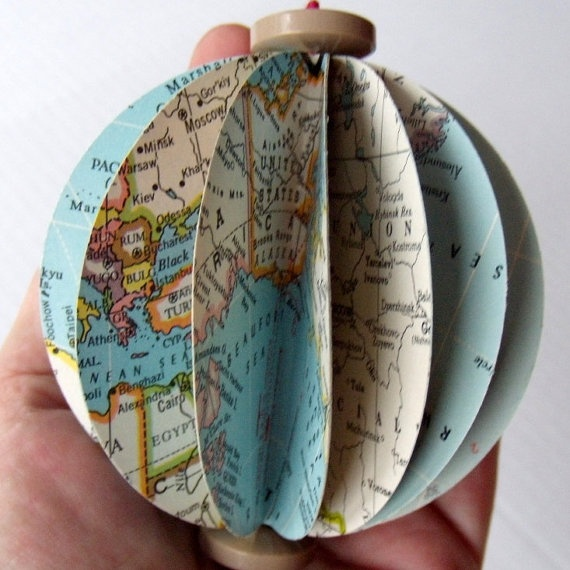 map ornament kit