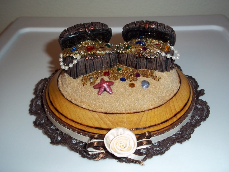 pirate ship wedding cake topper custom pirate treasure chests wedding cake topper pirate 18617