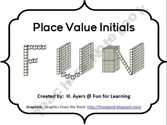 Place Value Names Freebie product from Fun-for-Learning on TeachersNotebook.com