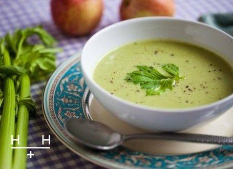 Celeriac, Apple and Celery Soup