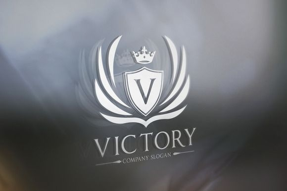 Victory Logo by Super Pig Shop on Creative Market