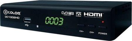 D-COLOR DC1002HD DVB-T/T2  — 1156 руб. —  DVB-T/T2, процессор Mstar 7802, тюнер NM 120, демодулятор Mstar 1236, диапазон частот 174-862 МГц, LED-дисплей, MPEG-2, MPEG-4, Dolby Digital 5.1, формат 16:9, 4:3, разрешение видео 576-1080i.