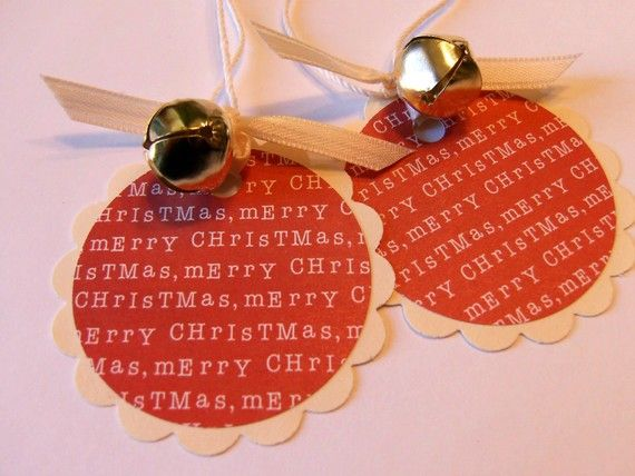 Christmas Gift Tag. Add a small punched tree, stocking, star...