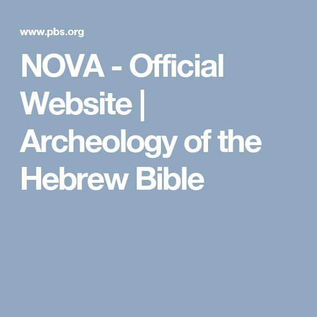 NOVA - Official Website | Archeology of the Hebrew Bible