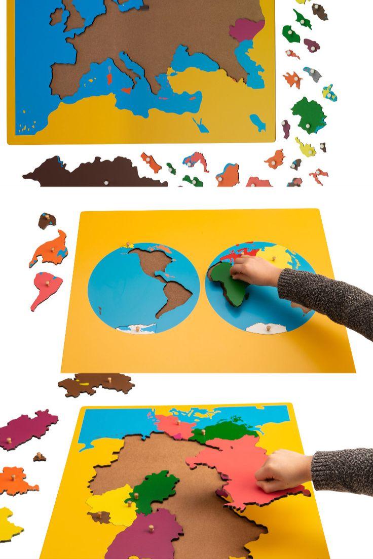 3 Montessori Puzzlekarten Um Mit Montessori Material Die Welt Kennen Zu Lernen In 2021 Montessori Puzzles Karten
