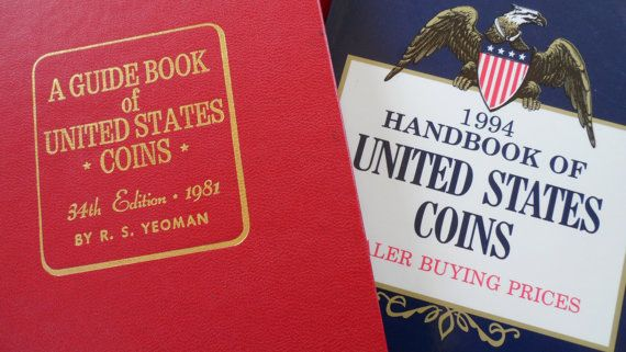 Vintage Coin Collecting Books  Excellent by ChicAvantGarde on Etsy,