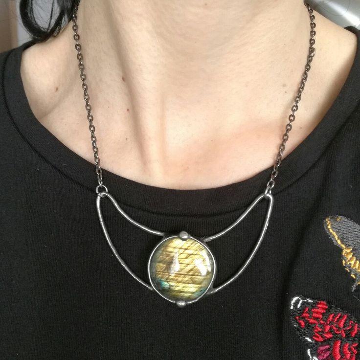 Moon labradorite necklace 🌹❤