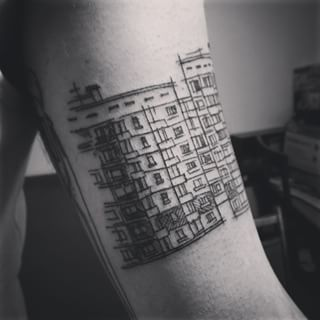 Or you can also go more abstract and proclaim your love for cities in general. | 22 Breathtaking City Tattoos That Will Give You Wanderlust