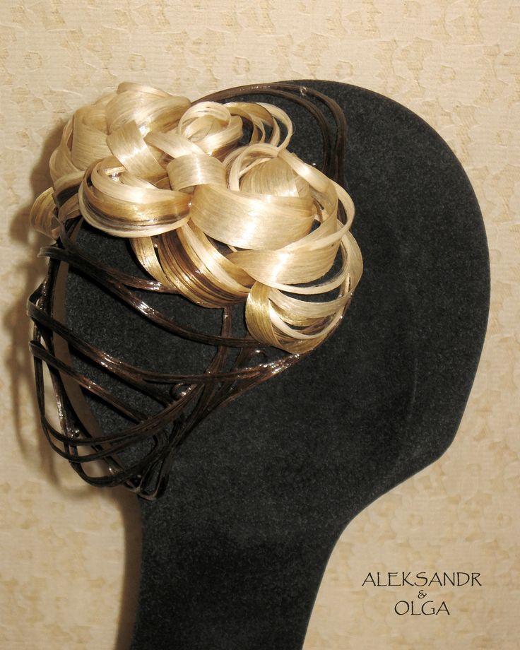 Украшение - ВАЛИК - РАКУШКА - постиж, 3 цвета, мелирование (из натуральных волос) http://www.aleksandr-and-olga.ru/ http://www.livemaster.ru/hair-jewellery