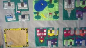 Car Playmat - toy cars - interactive toy - busy toy - educational - quiet toy - felt board - learning toy - my neighborhood