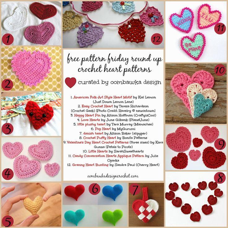 Free Crochet Pattern Friday Crochet Round Up! Let's Crochet some LOVE! Oombawka Design Crochet