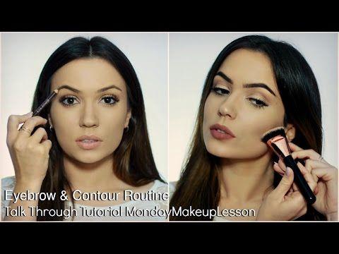 Anfänger sprechen durch Makeup Tutorial | Routine für Augenbrauen und Konturen – so froh … – Nails
