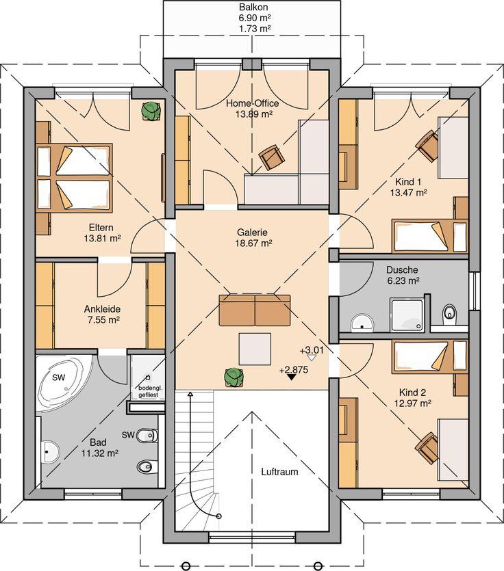Die besten 25+ Grundriss stadtvilla Ideen auf Pinterest Haus