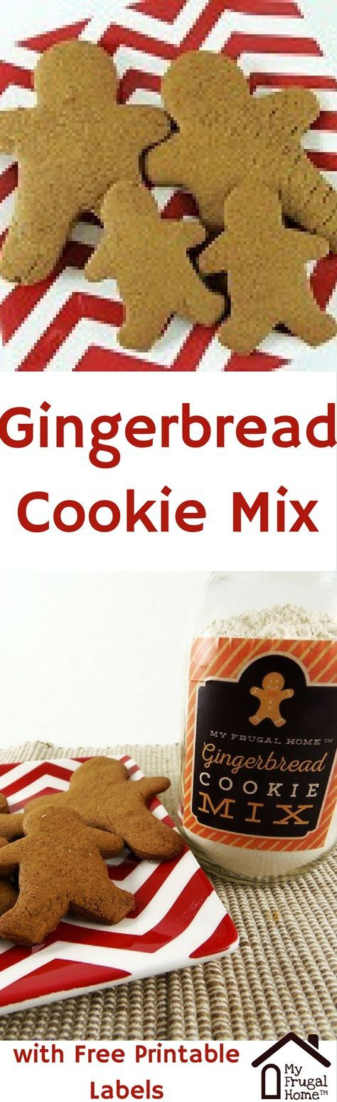 Gingerbread Cookie Mix Recipe -- with free, printable labels