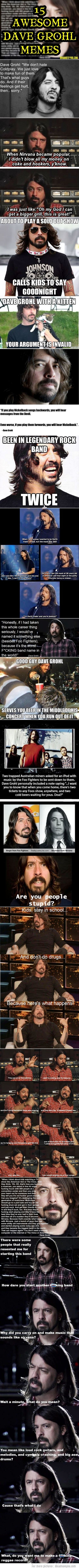 15 Awesome Dave Grohl Memes To encourage ALL artists - he is a new philosopher for today!