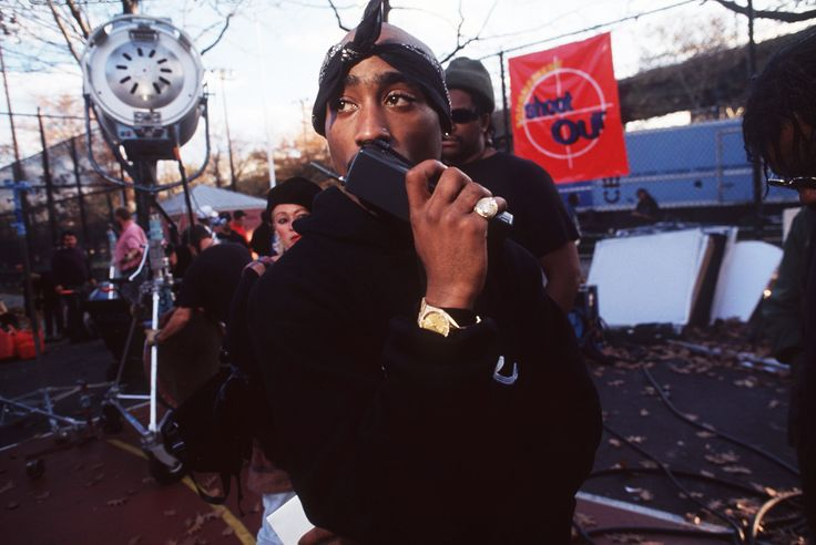 callin the boys to come fuck monday up real quick  . .  on set for above the rim .  harlem, nyc .  mark peterson . . . . . . . #mondayvibes #monday #tupac #pac #2pac #makaveli #tupacshakur #blackexcellence #melanin #blackandbeautiful #markpeterson #photography #onset #setlife #abovetherim #harlem #nyc #basketball #1994 #movie #90smovies #style #vintagestyle #newyork #lifestyle #potd