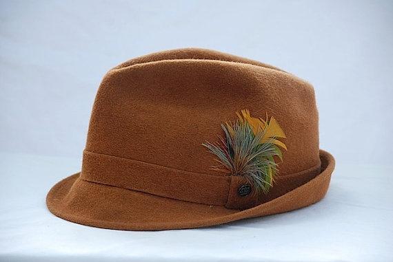 vintage beaver midcentury stetson wellington hat, vintage camel colored men's hat, beaver hat, wellington hat #men #style #hat #vintage $26