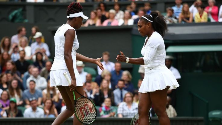 The Williams sisters have won their first doubles Grand Slam since 2012, beating Timea Babos and Yaroslava Shvedova in the finals at Wimbledon on Saturday.