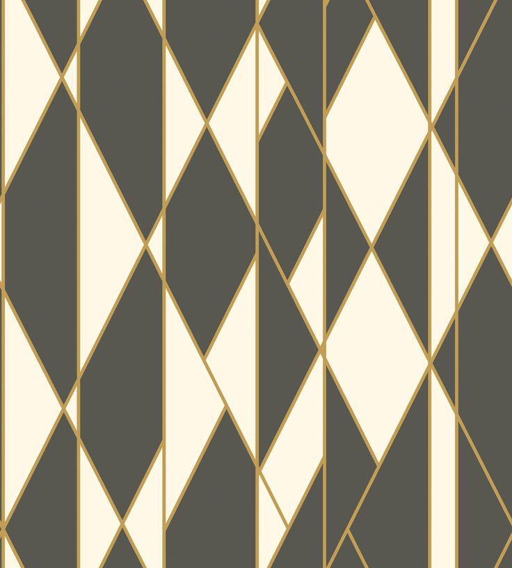 Oblique Black and White wallpaper by Cole & Son