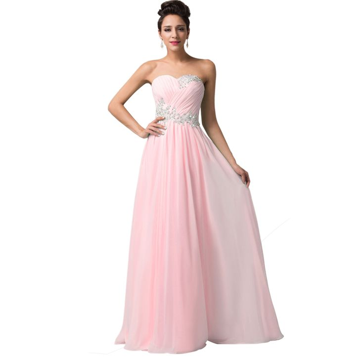 Cheap dress cocktail dress, Buy Quality dress formal dress directly from China dress of your dreams Suppliers:         Fast Delivery Grace Karin Charming Light Blue Long Bridesmaid Dress Floor Length Sweetheart With Shi