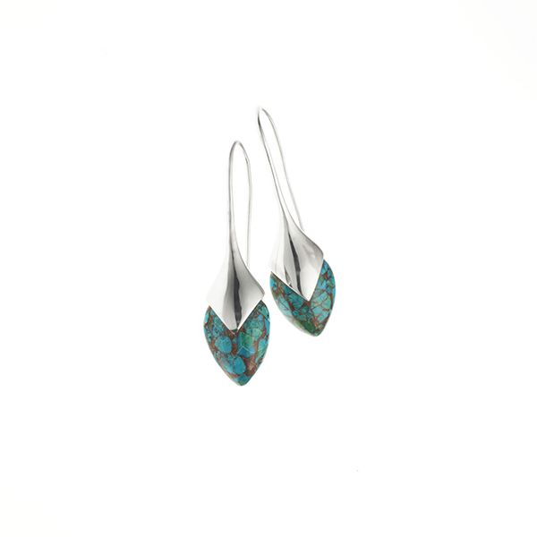 PUSHMATAaHA // Water Masai Earrings / Chrysocolla with Sterling Silver