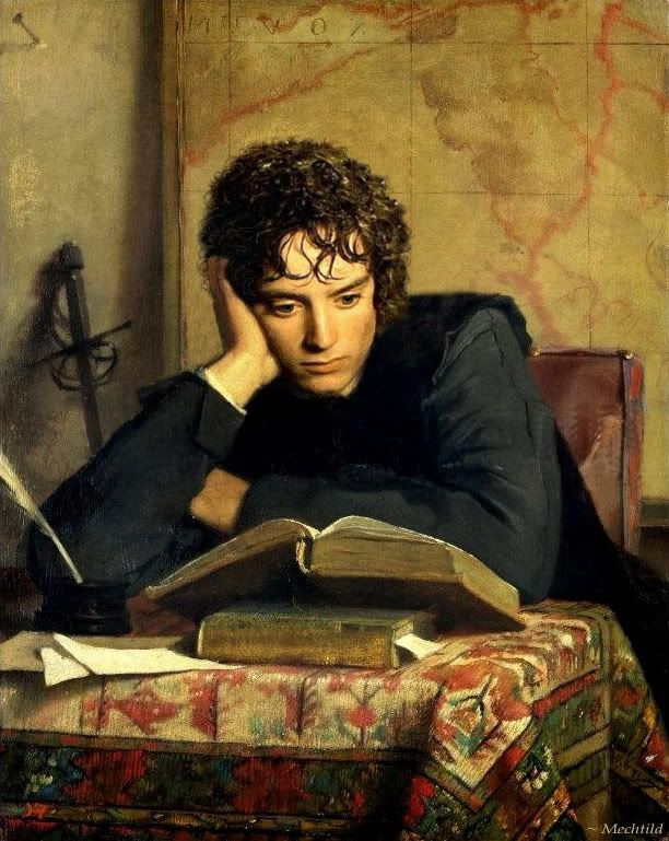 HEILBUTH Ferdinand - French (1826-1889] -  The Reader (1856)   :-)  Elijah Wood? :-) ...reincarnation...