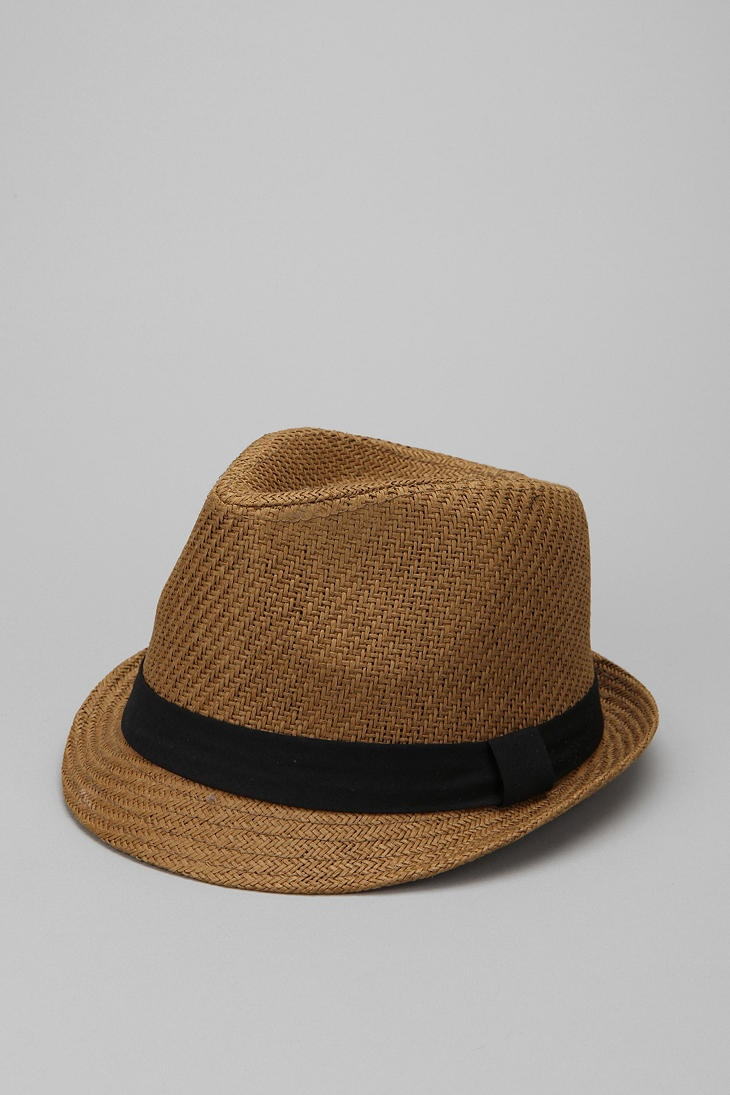 Urban Outfitters Natural Straw Fedora in Brown
