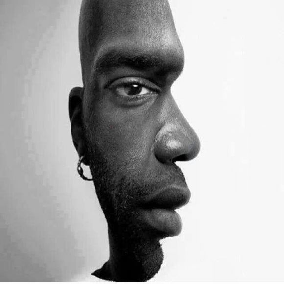 In this optical illusion, you have to figure out whether you're seeing a front view or a side view.