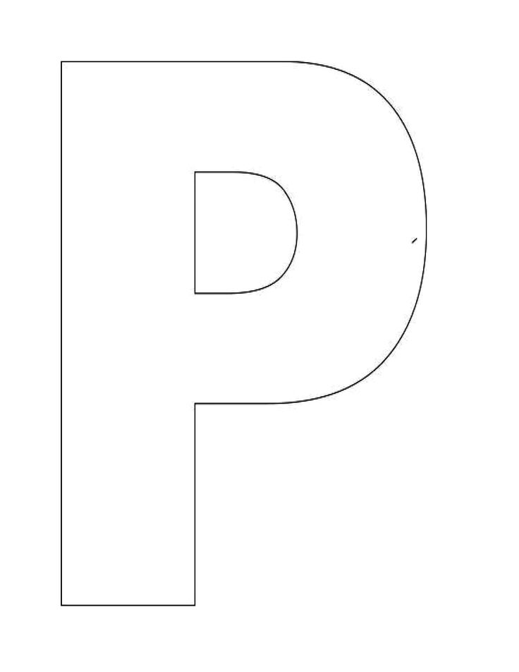 Image detail for -Alphabet Letter P Templates are perfect for preschool and kindergarten ...