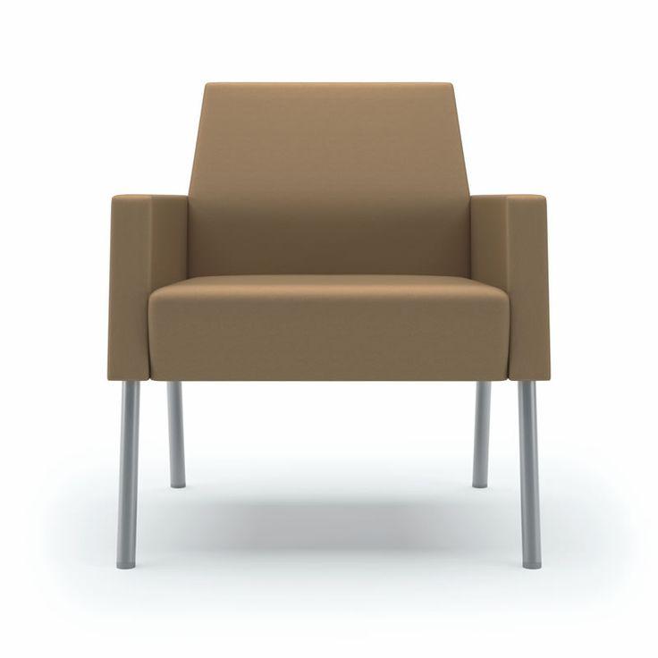 Lesro Mystic Lounge Series Panel Arm Guest Chair 100+ Upholstery Options  (LS-S1831K4)