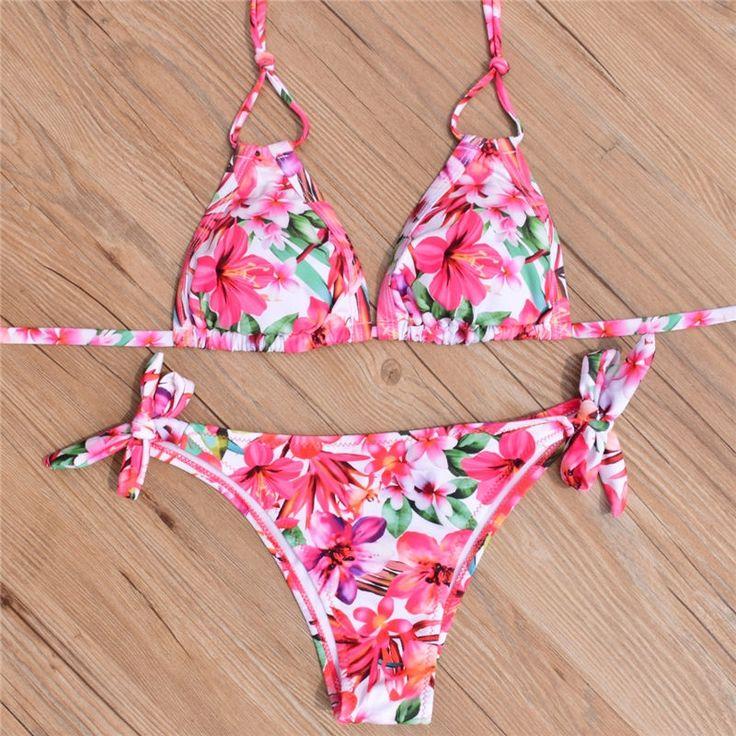 9.75$  Buy now - http://alixdj.shopchina.info/go.php?t=32808876851 - Sexy Bikini High Quality Swimwear 2017 Women Brazil Bikini Set Low Waist Striped Swimsuit Beachwear  #magazine